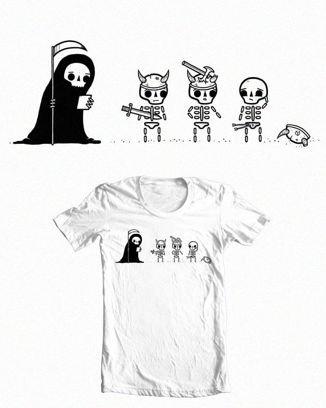 A Hero's Death by randyotter3000 on Threadless