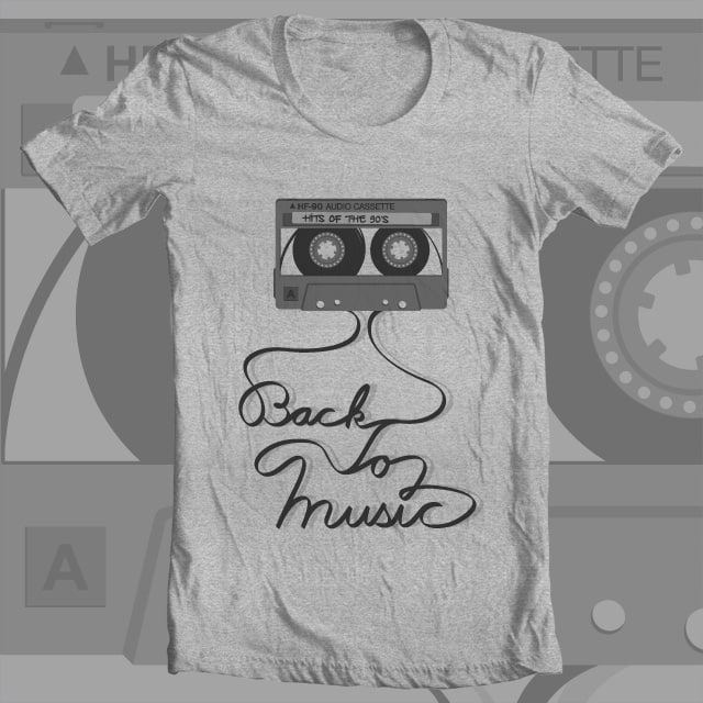 Back To Music by hodo on Threadless