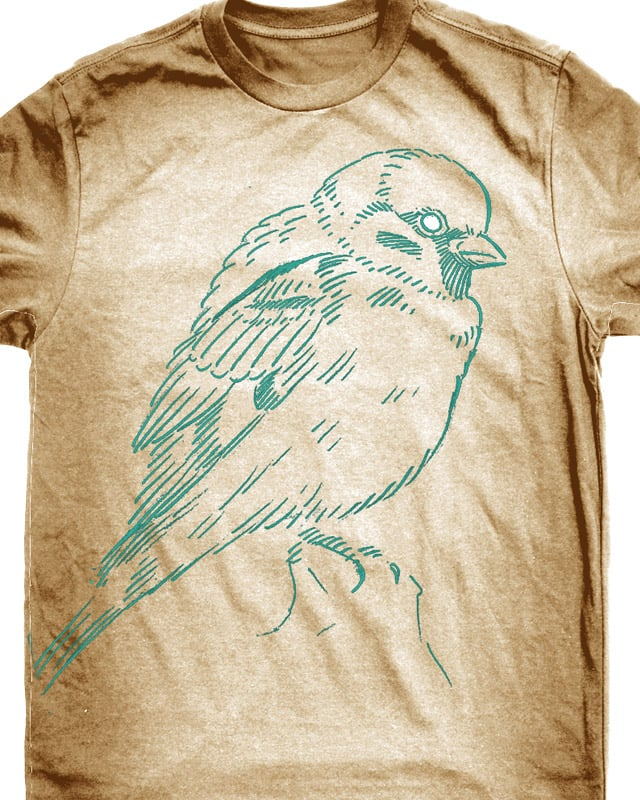 sparrow by droopbomb on Threadless