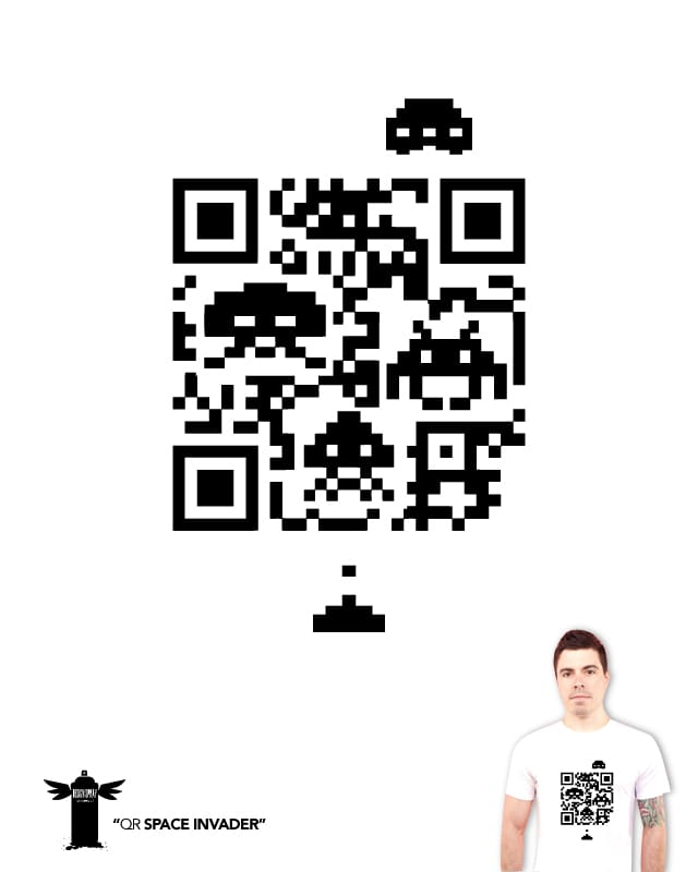 QR Space Invader by Rodos on Threadless