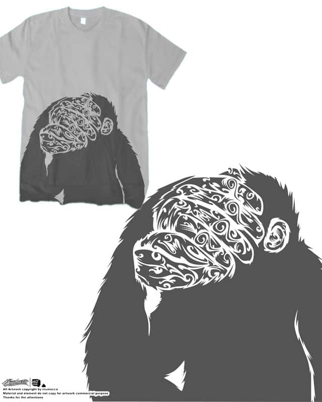 shy monkey by inumocca on Threadless