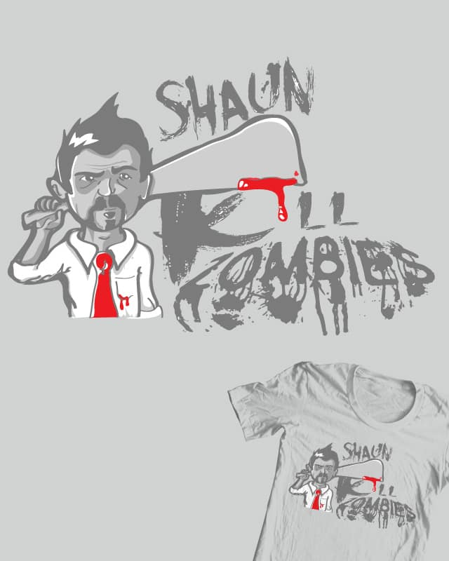 Shaun kill zombies by DonnieArt on Threadless