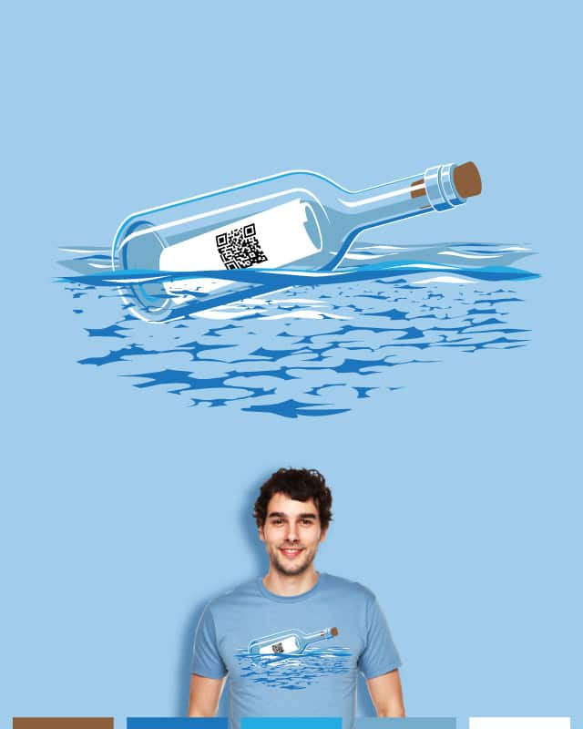 QR code In a Bottle by visualtext on Threadless