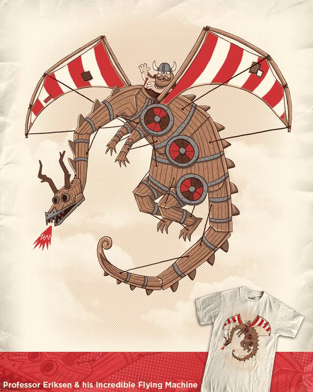 Professor Eriksen & his Incredible Flying Mach by WanderingBert on Threadless
