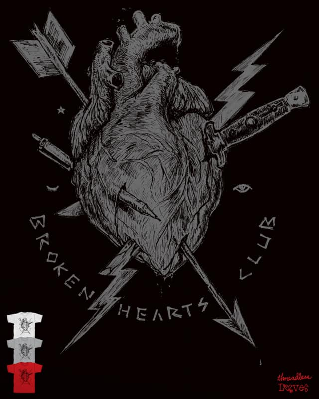 BROKEN HEARTS CLUB by Robsoul on Threadless