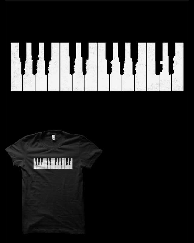 Piano Keys by biotwist on Threadless