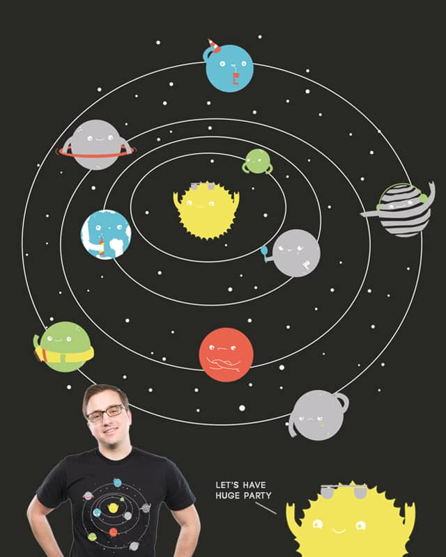 Solar System Party by spazio C on Threadless