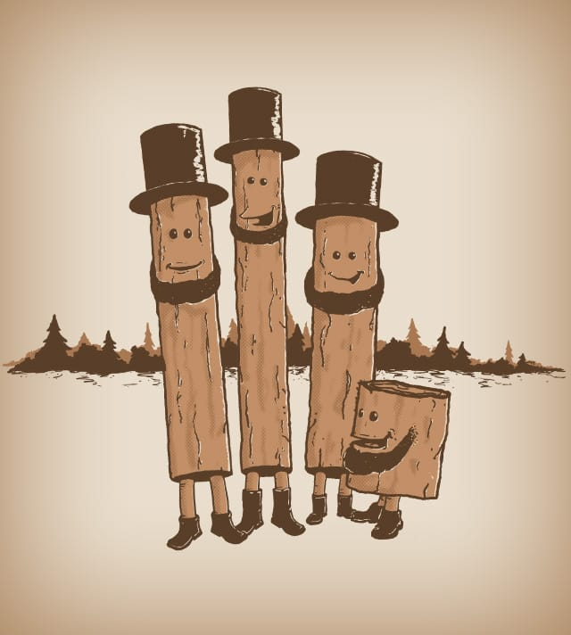 Lincoln Logs by SomeGuero on Threadless