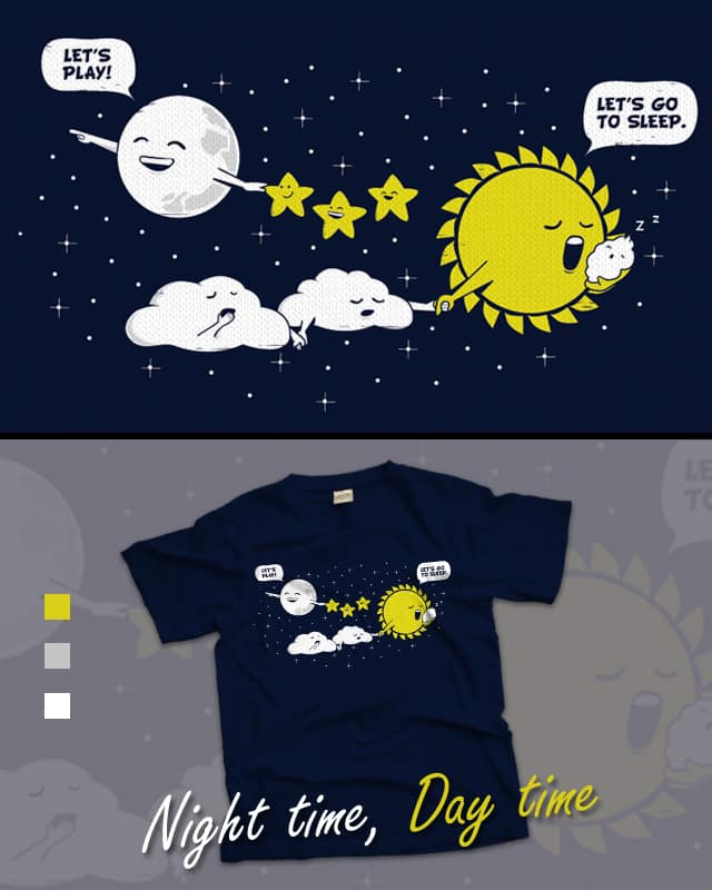 Night time, Day time by wallstreet on Threadless