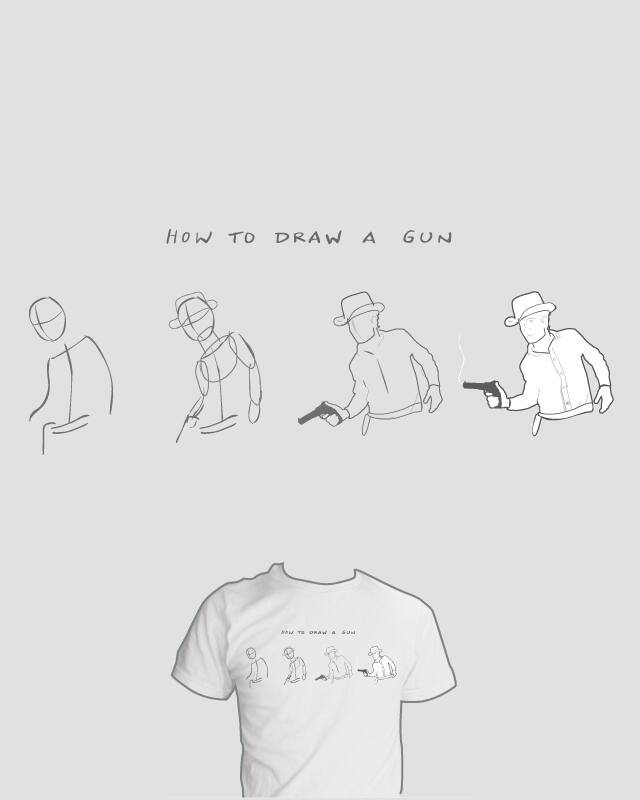How to draw a gun by nathanwpyle at gmail.com on Threadless