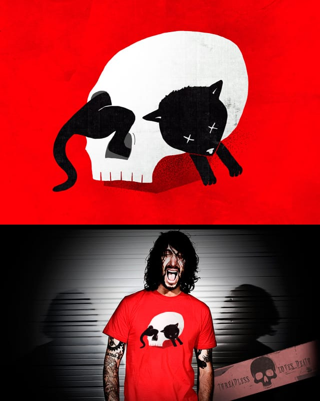 Curiosity killed the cat by Raulio on Threadless