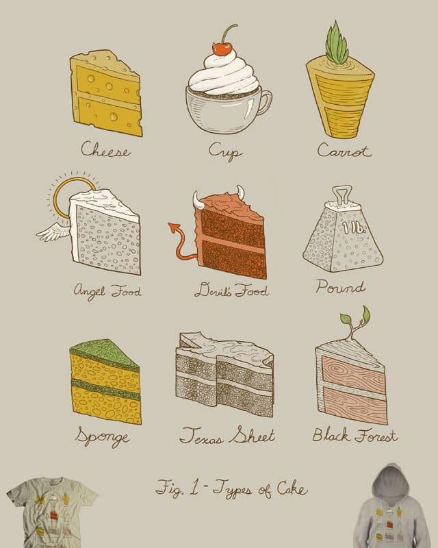 Types of Cake by jillustration on Threadless