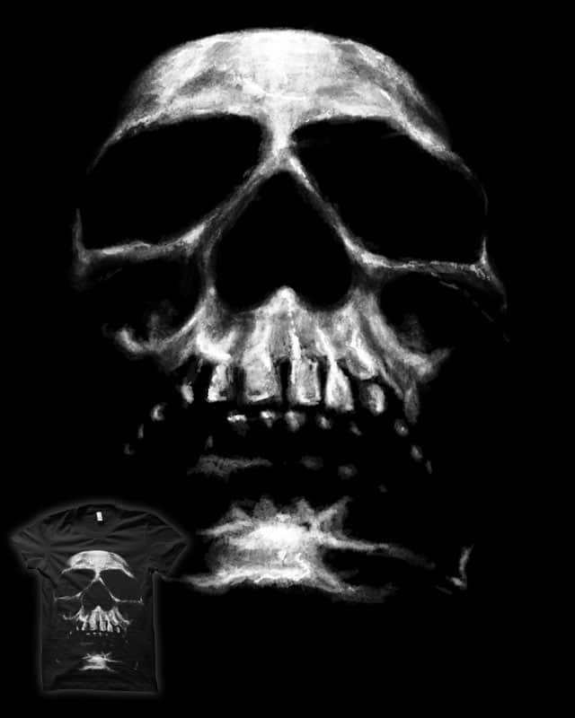 SKULL ON BLACK by nickv47 on Threadless