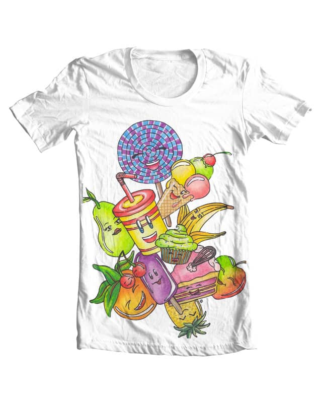 Happy Food by Rose-Ann-Mary-K on Threadless