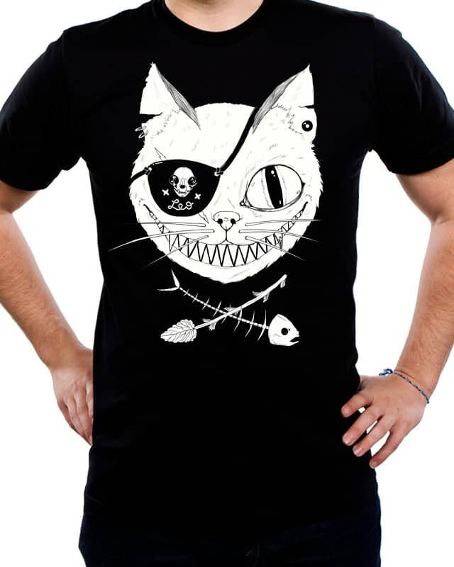 Cat Pirate's Life For Me by Salamanderlich on Threadless