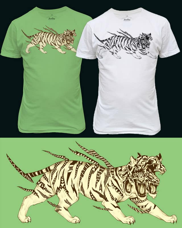 Neon Tiger by Salamanderlich on Threadless