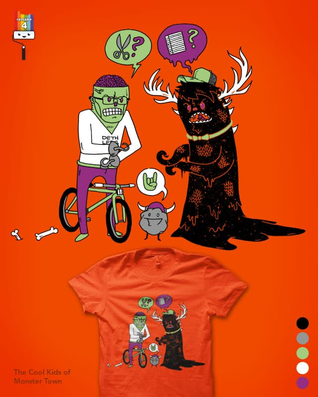 The Cool Kids of Monster Town by nickv47 on Threadless