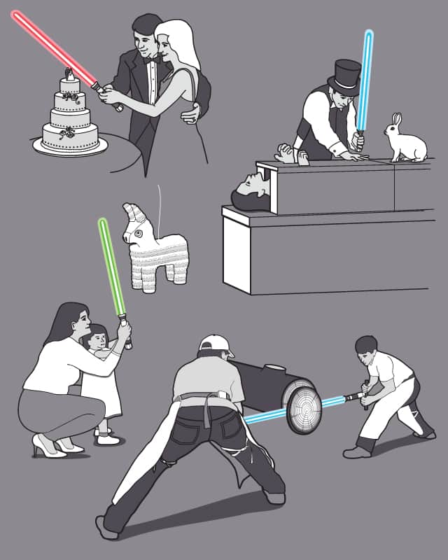Everyday Lightsabers by davidfromdallas on Threadless
