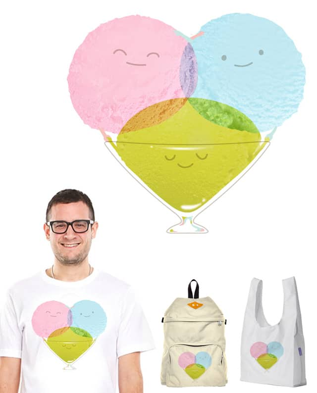 Polyamory of Sherbet Icescream by monkeypim on Threadless