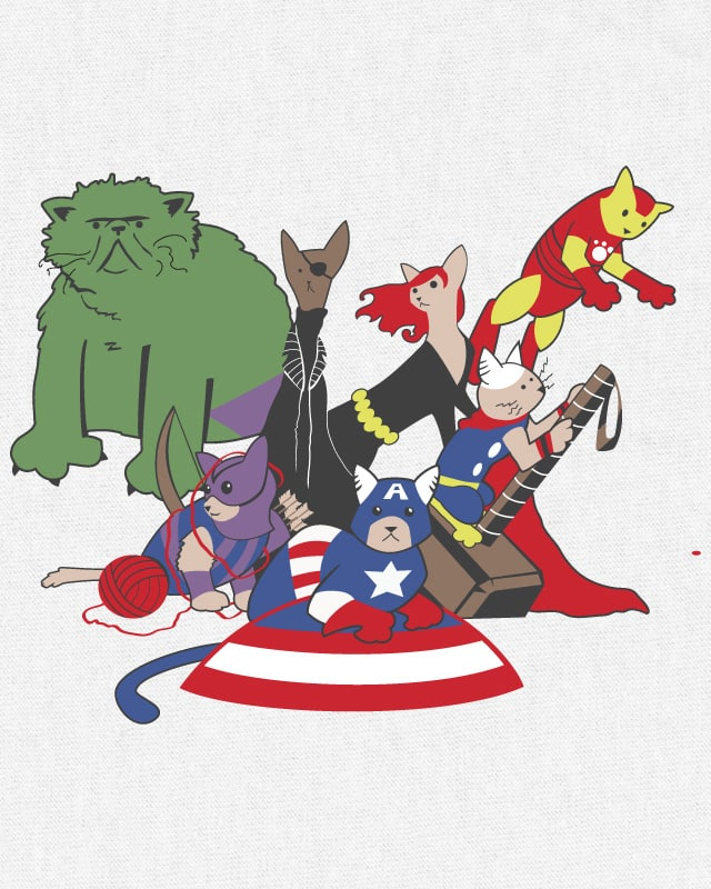 Catvengers Assemble! by kylewalters on Threadless