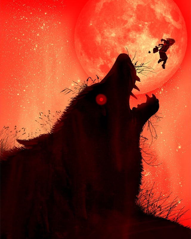 TheLittle Red Riding Hood Jumps Over The Big Wolf by kooky love on Threadless