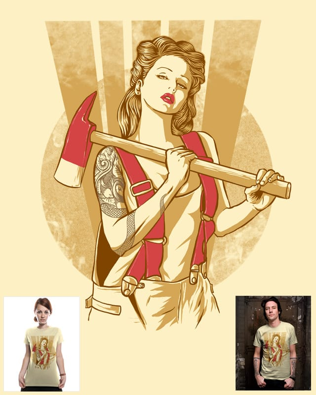 axe girl by barmalisiRTB on Threadless