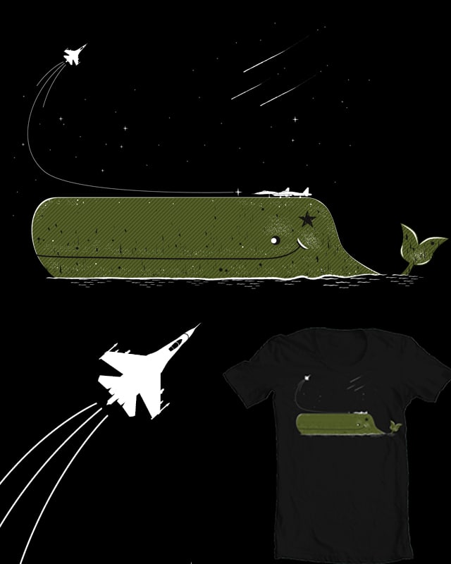 whale on duty by kuli_grafis on Threadless