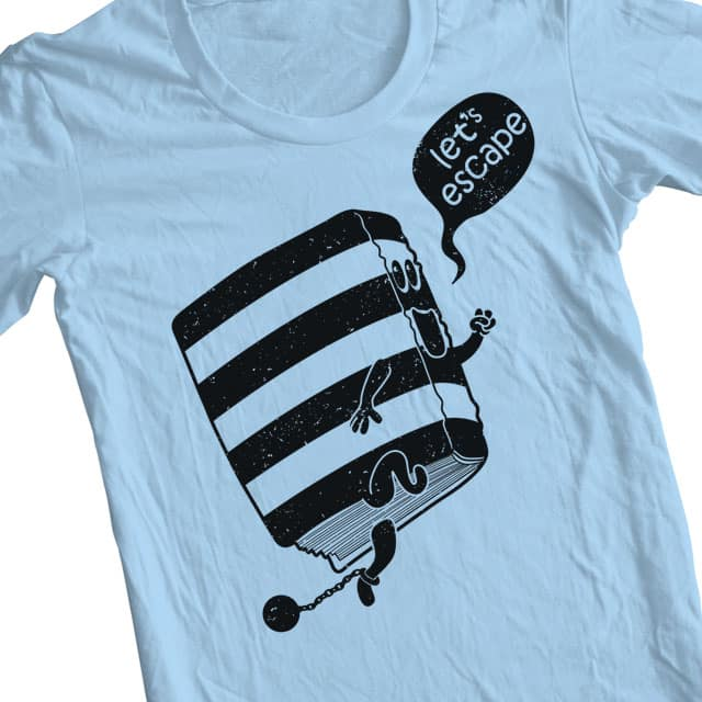 Escape with a good book by Luke... on Threadless