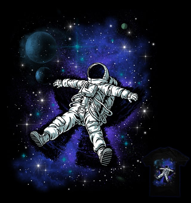 Astronaut's Snow Angel by ben chen on Threadless