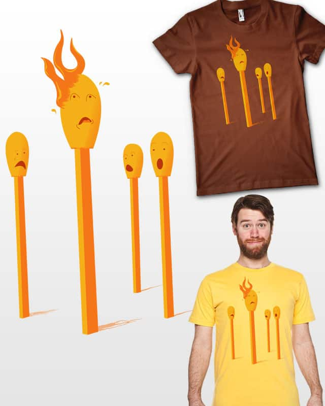 Death by fire ! by Naked Monkey on Threadless