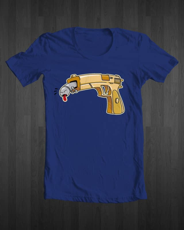 Guns stink! by ErwinNL on Threadless