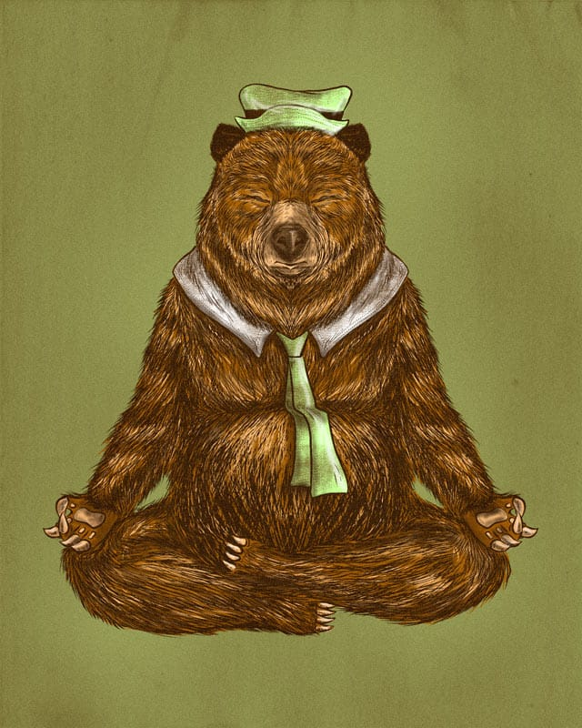 Yoga Bear by kooky love on Threadless