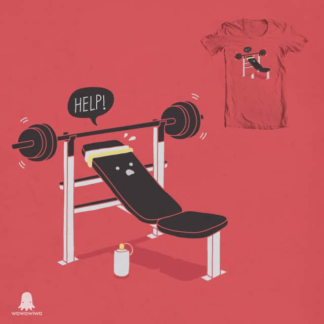 But he's always at the gym... by wawawiwa on Threadless