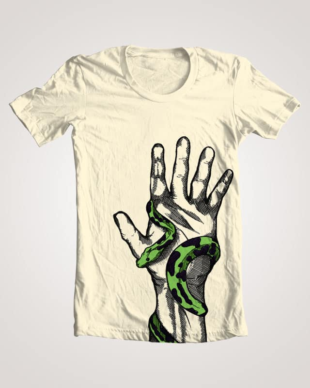 Hand Snake by tasharmacdonald on Threadless