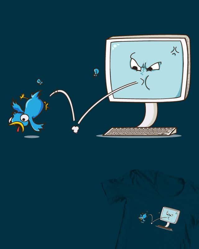 eject the tweet by DonnieArt on Threadless