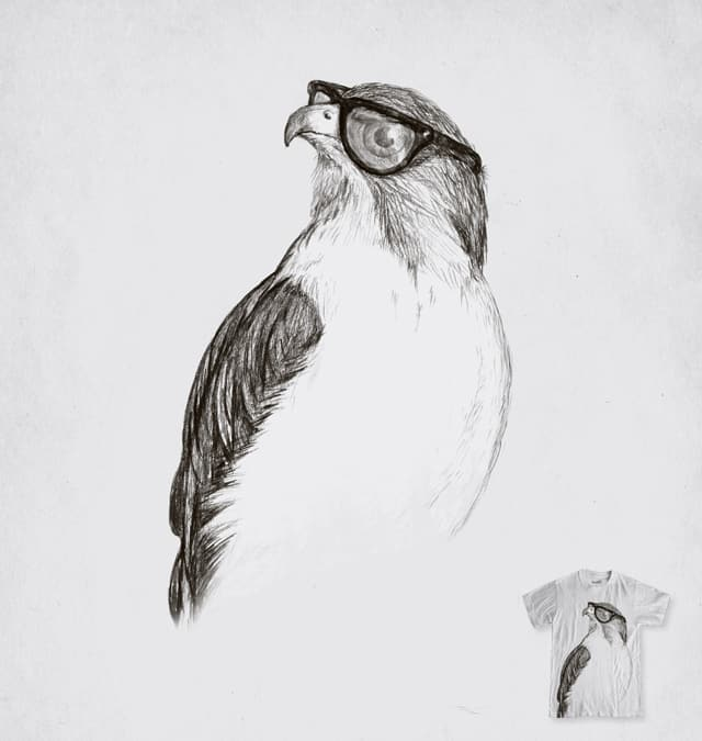 Hawk with Poor Eyesight by murraymullet on Threadless