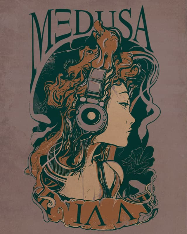 Medusa Turns to Rock by iamrobman on Threadless