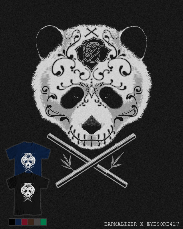 Panda De La Muerte by barmalisiRTB on Threadless
