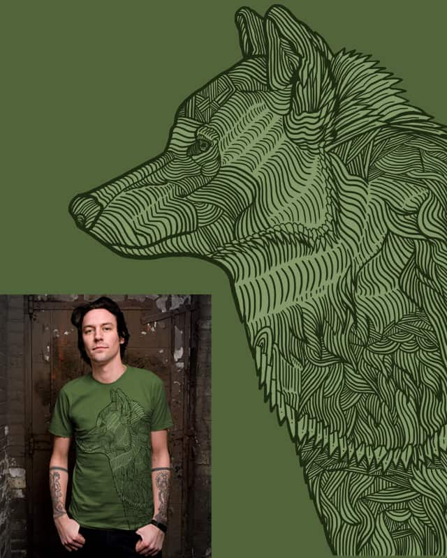 Enthusiastic Wolf by fathi on Threadless