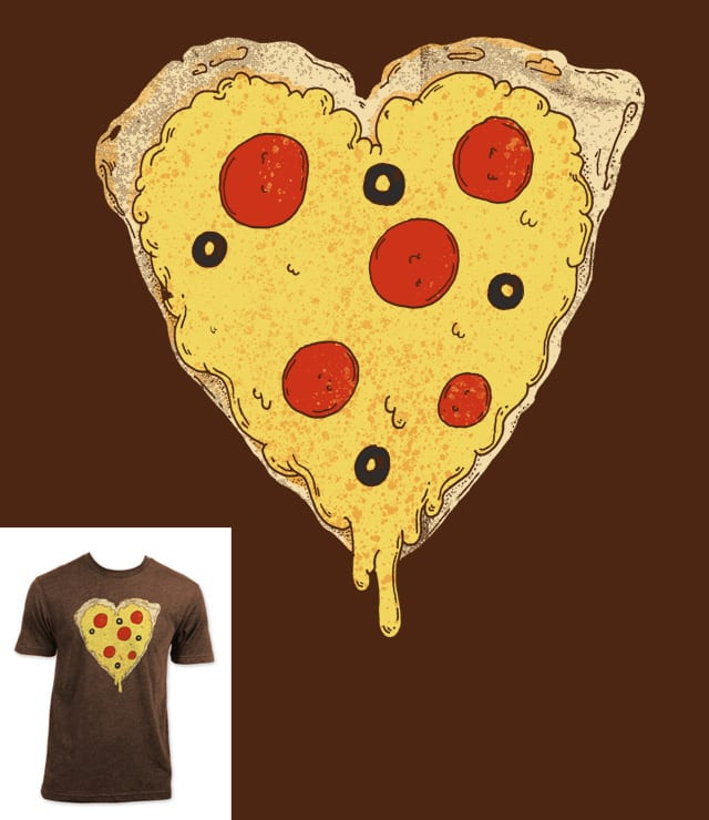 Pizza=Love by atomicchild on Threadless