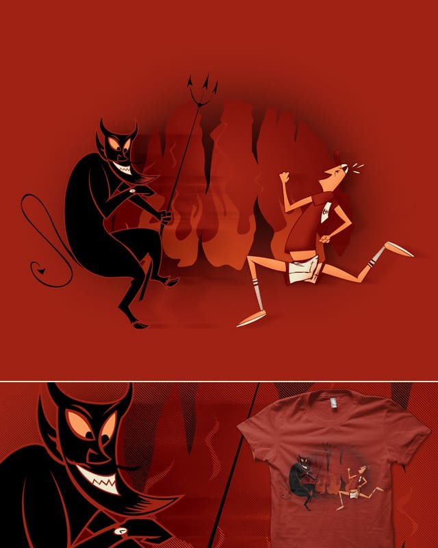 Running with the Devil by deep space monkey on Threadless