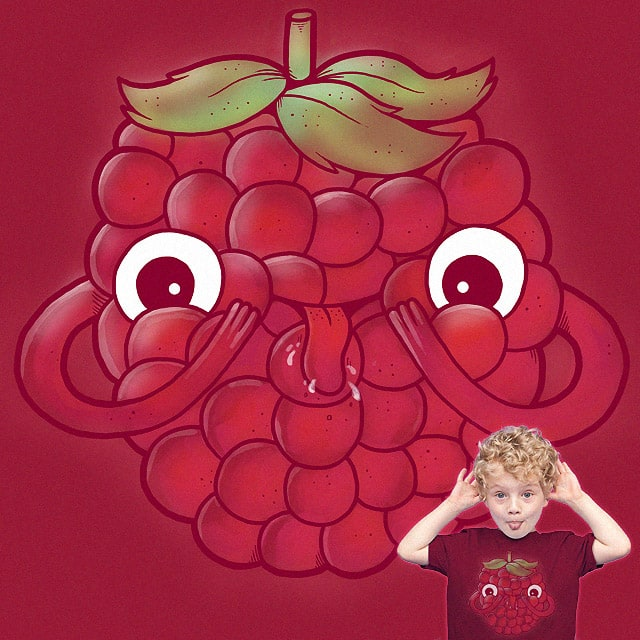 Raspberry! by jeffreyg on Threadless