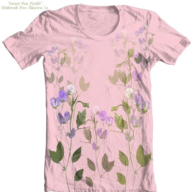 Sweet Pea Fields by artsala on Threadless
