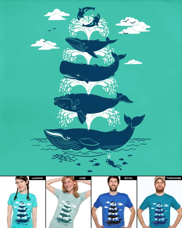 Whale of a Time by cpdesign on Threadless