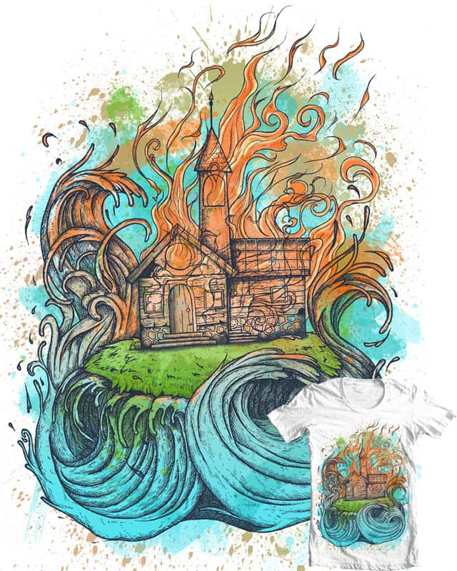 between the flames and tides by okikIacocca on Threadless