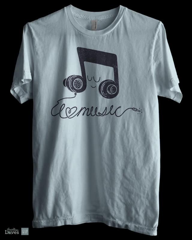 I Love Music by expo on Threadless