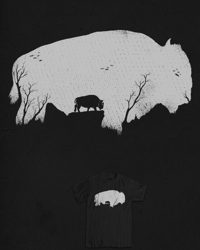 Bison by barmalisiRTB on Threadless