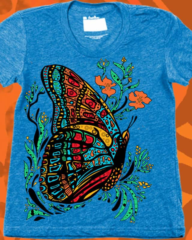 Psychedelic Butterfly by JanDeA on Threadless