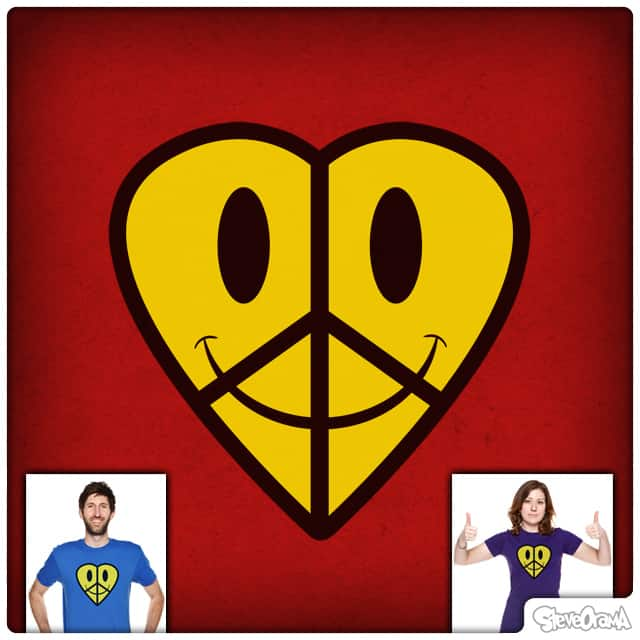 Love Peace & Happiness by SteveOramA on Threadless