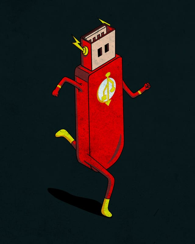 The Flash Disk by kooky love on Threadless